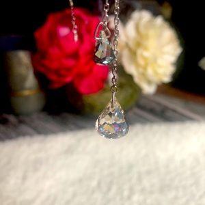 Genuine Swarovski Crystal Necklace Silver + Blue